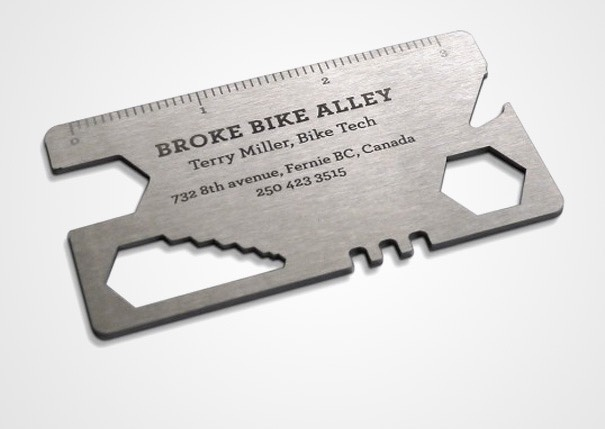 6 unconventional business cards you will never throw them away 2 bike repair tool card colourmoves