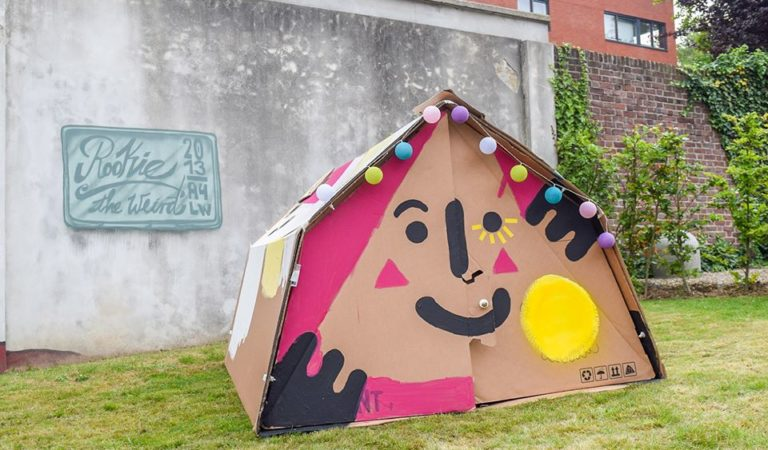 These 100% Recyclable Cardboard Tents Are Great For Music Festivals