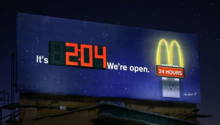 10 Creative Billboard Ads Of McDonald's