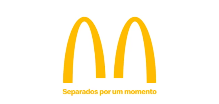 "McDonald's Splits Its Logo To Support ""Social Distancing"" Against Coronavirus"