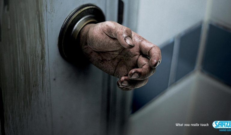 Striking SANZER Hand Gel Ads: What You Really Touch Everyday?